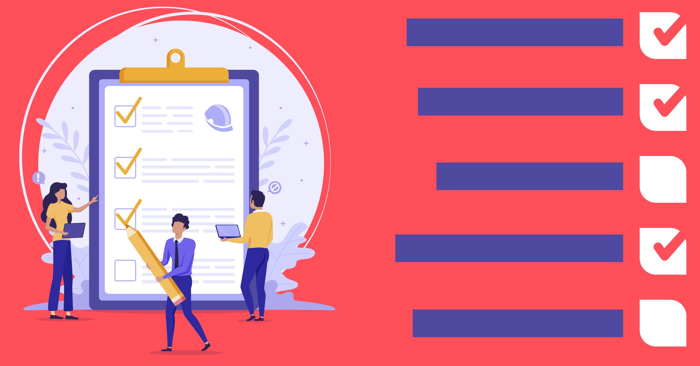 Personalização de checklist para segurança do trabalho: escolha o peso e modelos de resposta