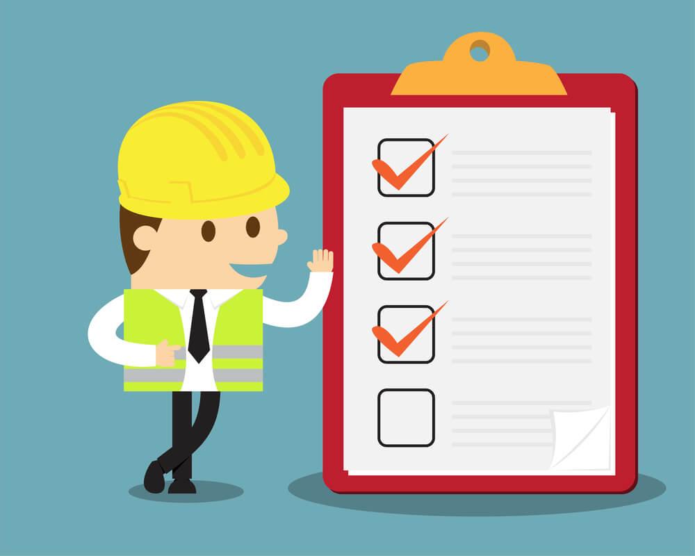 Veja os principais itens de um checklist de segurança no trabalho